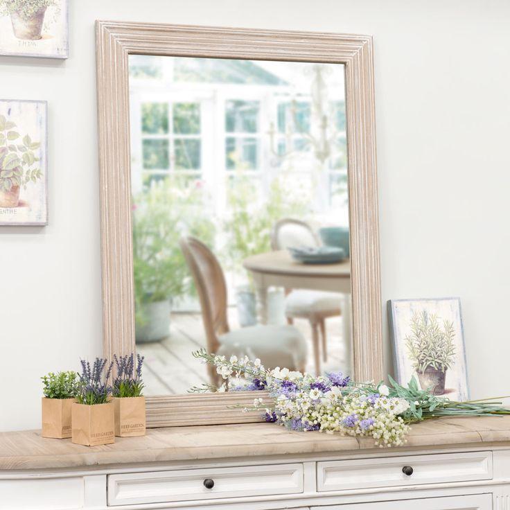 Specchio in legno di paulonia H 100 cm CAMPAGNE