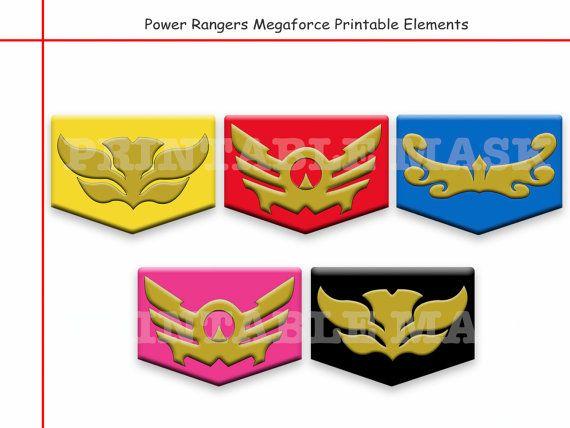Unique Power Rangers Megaforce Printable by AmazingPartyShop