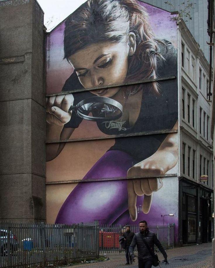 Divertido mural localizado en Glasgow | Fot.: Brian Watson #arte #art #calle #street #mural #glasgow #escocia #scotland