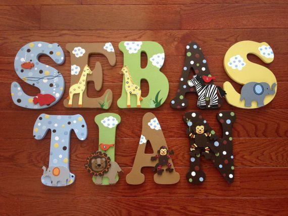 Custom Hand Painted Letters Match Lambs Amp Ivy Ss Noah Crib