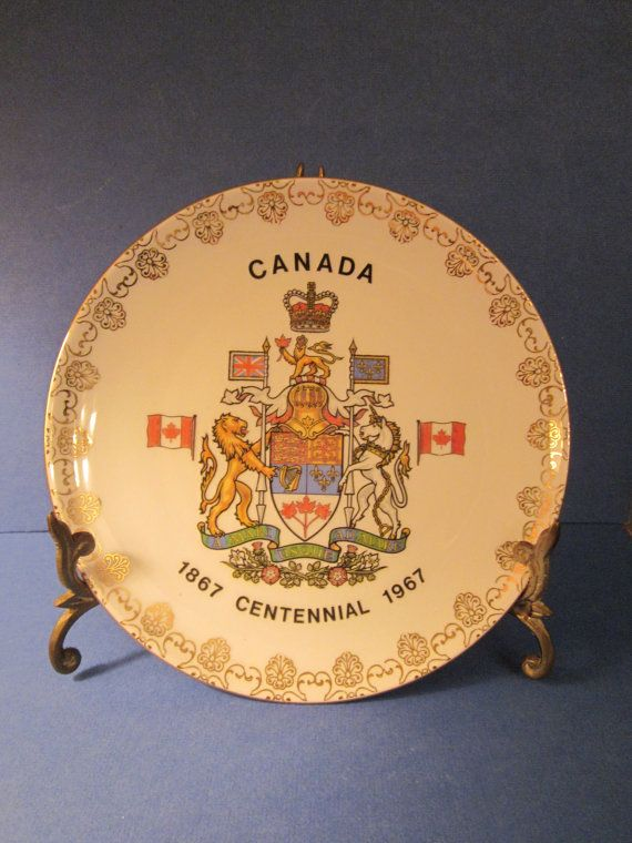 1967 Canada Centennial Souvenir Plate - Made by Schwarzenhammer Bavaria - Western Germany