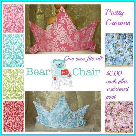 Handmade By Bear In A Chair  Pretty Crowns