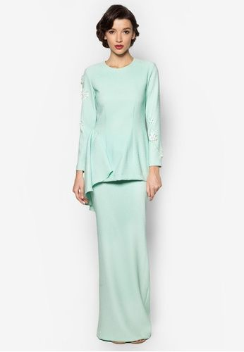 Kate Baju Kurung from Jovian Mandagie for Zalora in green_1