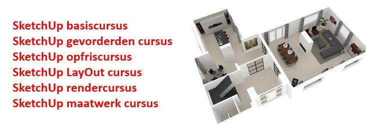www.sketchupcursus.nl - SketchUp 3D - verbouwing
