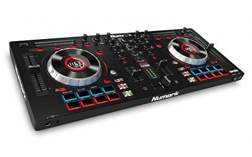 Numark Mixtrack Platinum DJ | 4-channel DJ Controller With 4-deck Layering and Hi-Res Display for Serato DJ