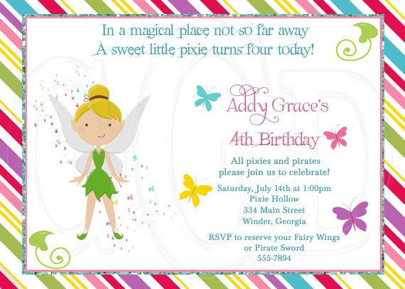 17 best images about Pixies Pirates Party Invitations on – Dress Up Party Invitations