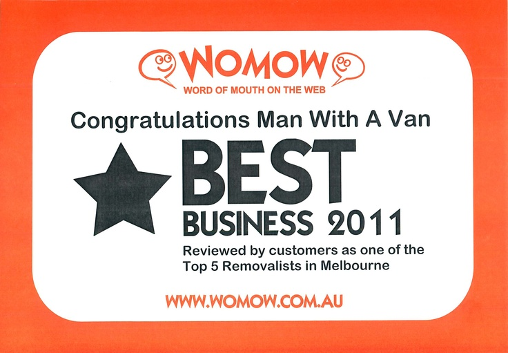 Word of mouth online best business award 2011