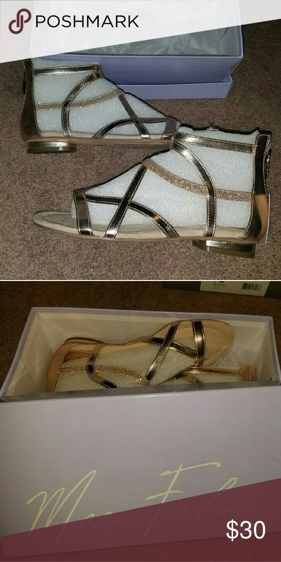 """MARC FISHER """"Bambi 3"""" gladiators Beautiful, fun, sparkly and BRAND NEW! Marc Fisher Shoes Sandals"""