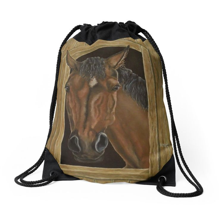 Drawstring Bag,  brown,beautiful,fancy,unique,trendy,artistic,awesome,fahionable,unusual,accessories,for sale,design,items,products,gifts,presents,ideas,horse,equine,animal,redbubble