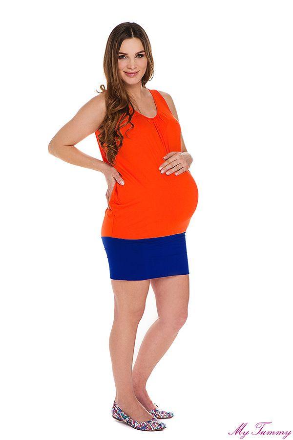 Tunika ciążowa Roxy pomarańczowa