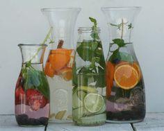 4x fruitwater recepten. Combineer groente, fruit en kruiden en maak eenvoudig zelf een soort van limonade. Lekker verfrissend voor de zomer.