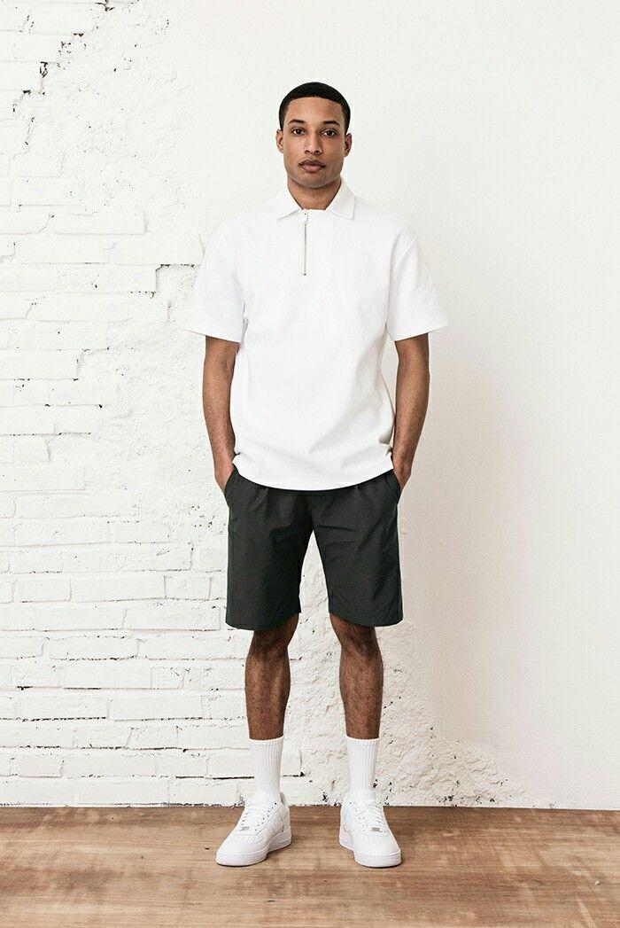 BERKHAB simple white off center zip  shirt