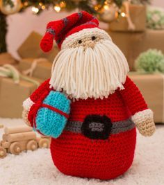 Huggable Santa Pillow. FREE crochet pattern