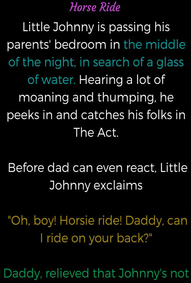 Little Johnny Heard A Noise From His Parents Bedroom Laughers Club