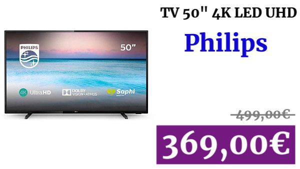 Televisor Led Philips 50pus6504 12 Smart Tv De 126 Cm 50 Pulgadas
