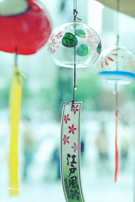 Japanese wind chimes or Furin *-*.