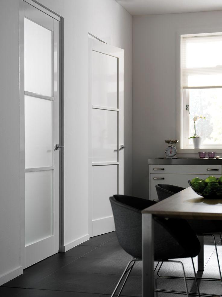 Binnendeur | Modern | Skantrae | Cube | SKS 3254 met blank glas en SKS 3264 zonder glas | bouwcenterkoolschijn.nl