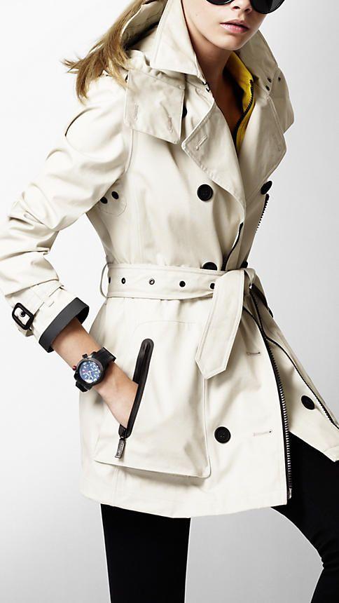Burberry Prorsum TrenchAsymmetrical Zip, Burberry Trench Coats, Fashion, Style, Burberry Coats, Zip Cotton, Trenchcoat, Cotton Trench, Rain Jackets Pocket