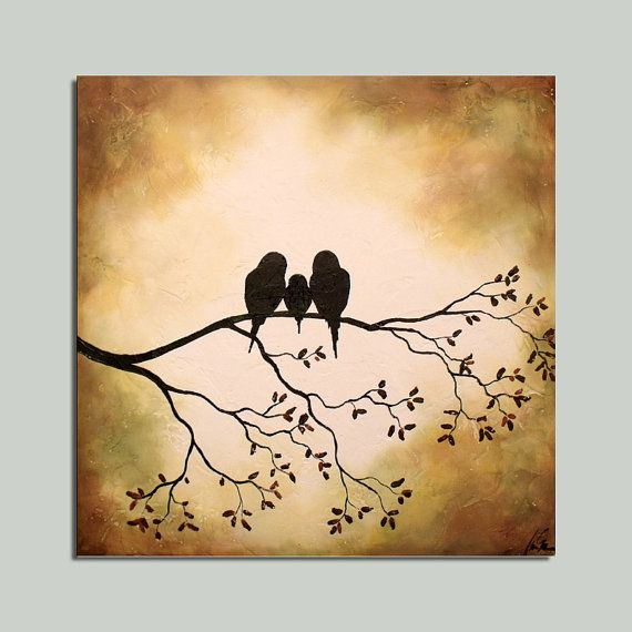 Love how this would symbolize our little family, but need one extra baby bird....