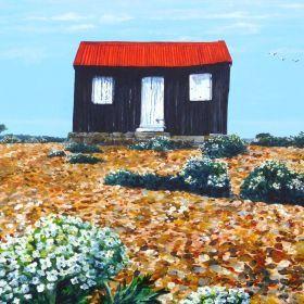 Old harbour hut by Paula Oakley