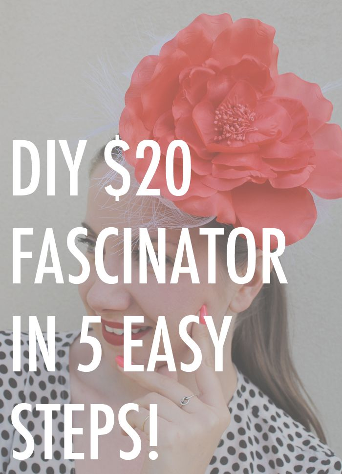 Can you make a (beautiful) fascinator for the races for under $20? I'm here to tell you that you can and there is no sewing, stitching or millinery skills required!  http://www.ladymelbourne.com.au/2013/10/diy-fascinator-for-under-20/