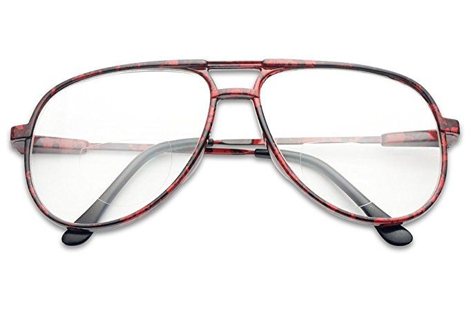 b1055ad80e4 Classic 80s Vintage Oversized Optic Prescription Aviator Reading Eye Glasses  Power +100 thru +325 Review