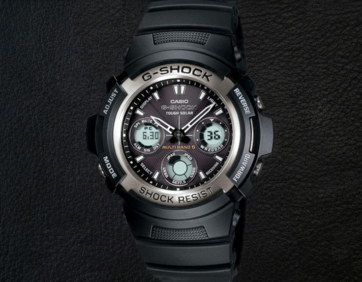 The Casio AWG100-1A G-Shock - I use it when I want a watch that I can strap on and forget about. Water-proof, shock-proof, and made from tough materials. It's a workhorse.