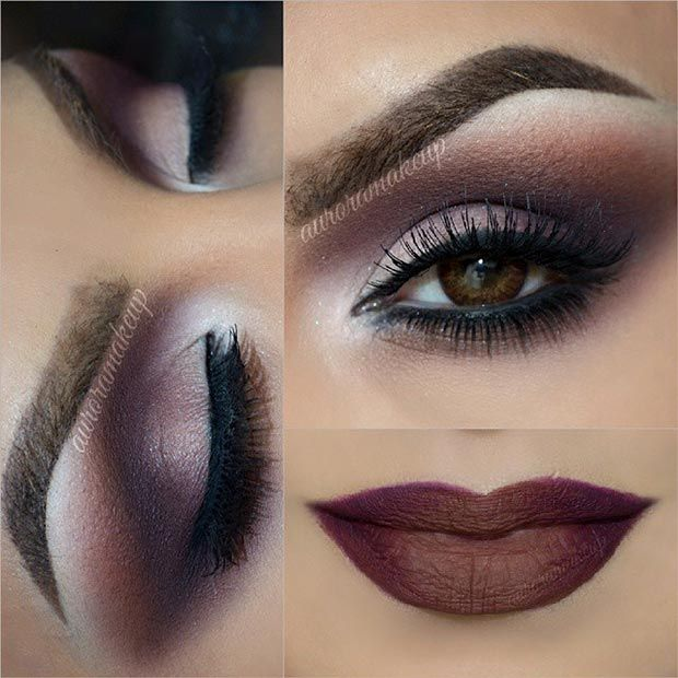 Brown Smokey Eye + Brown Matte Lips