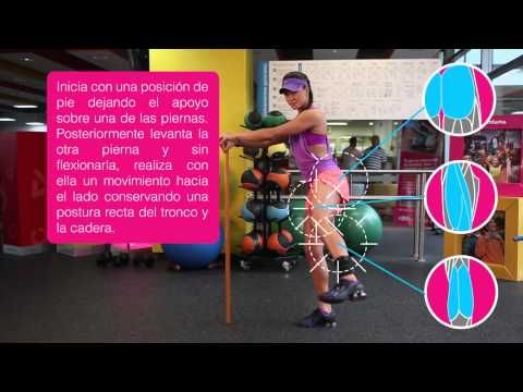 Comfama - Rutinas de ejercicios - Tren inferior - Abducción con Thera Band de pie