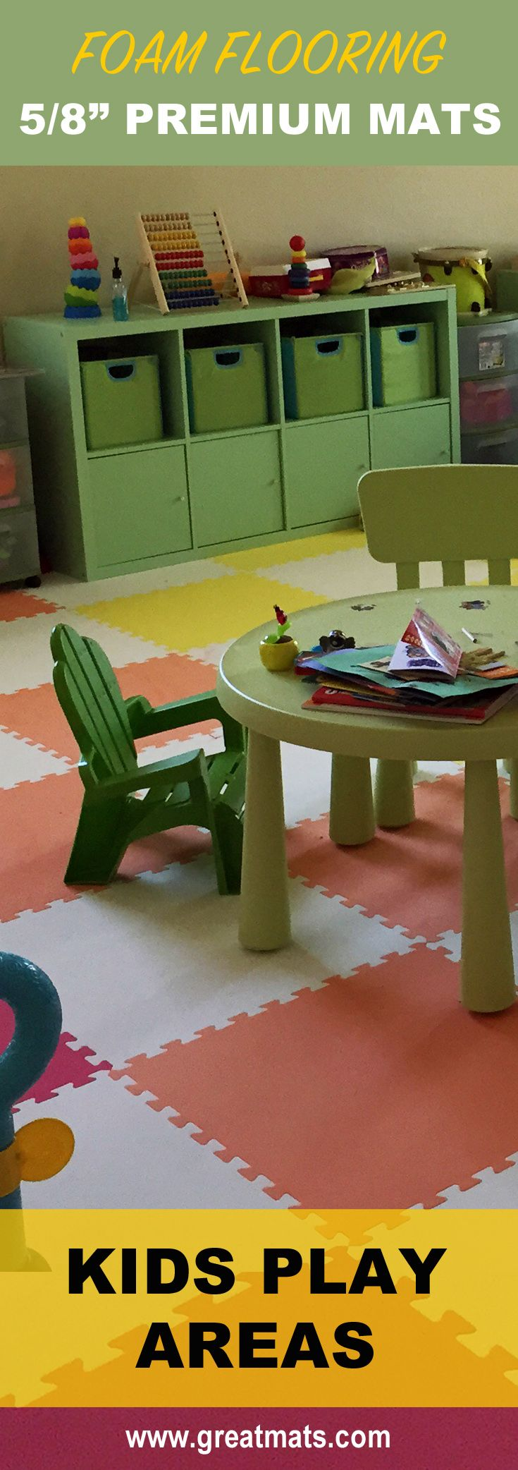 Floor mats for kids - Foam Floor Mats 5 8 Premium