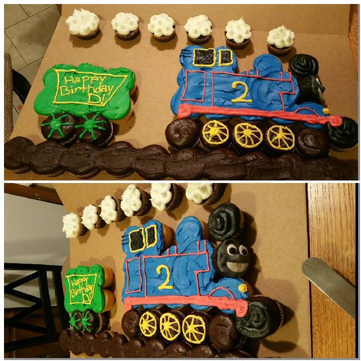 Thomas the train pull apart cake