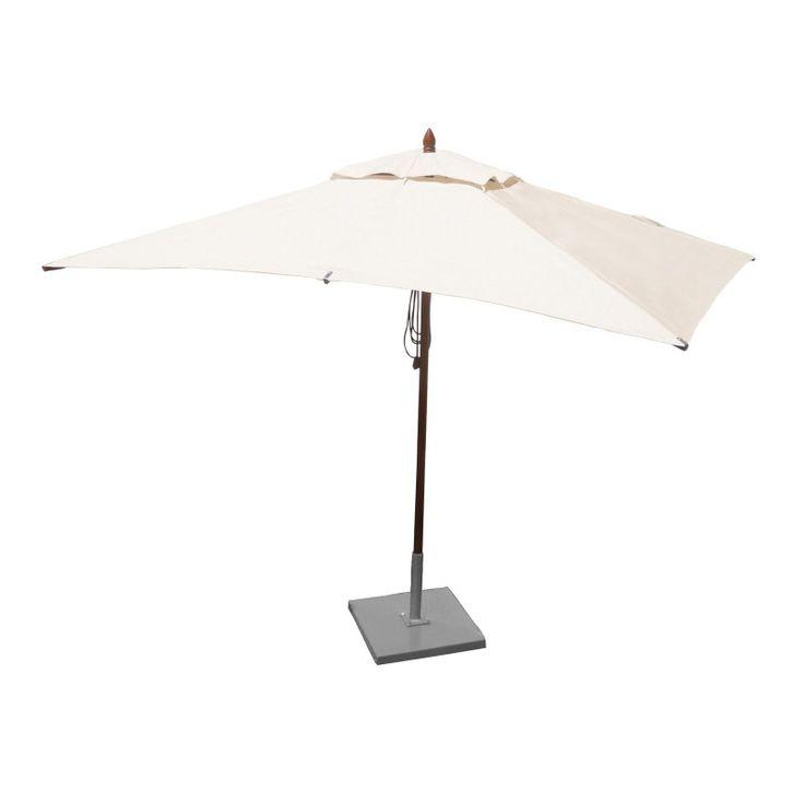 Greencorner 10 x 6.5 ft. African Mahogany Rectangular Patio Umbrella Natural - RC1065QS2926, Durable