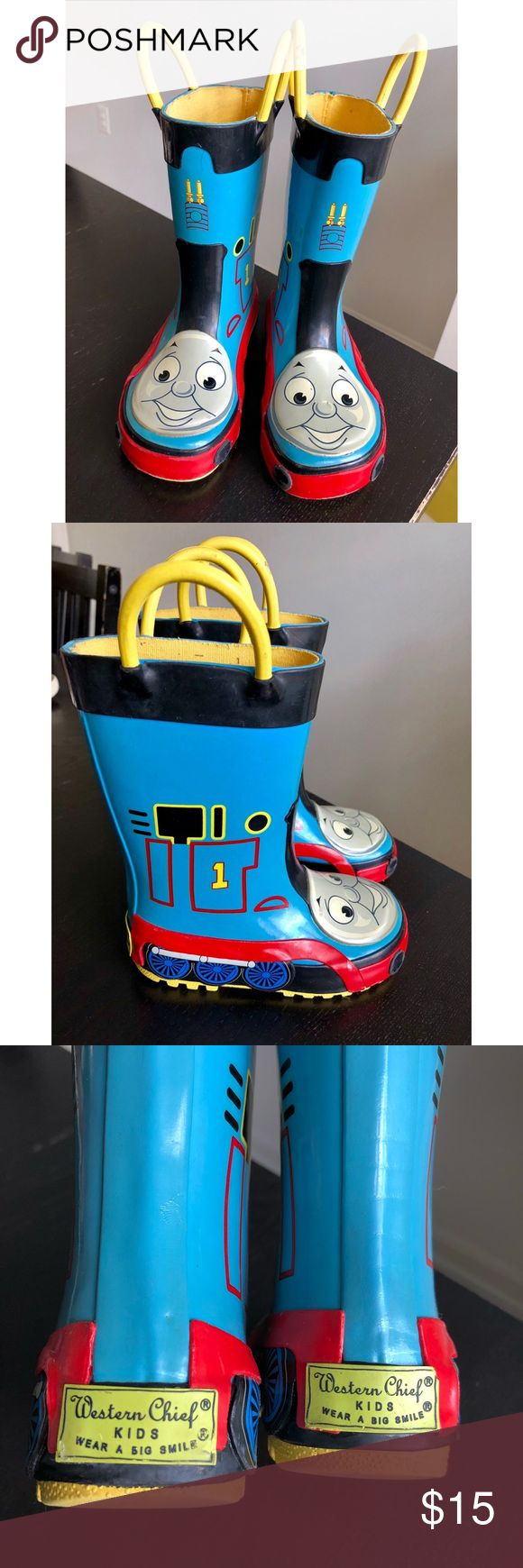 🚂Thomas the Train Kids Rain Boots🚂 Thomas The Train Kids Rainboots by Western Chief Size: US 8  Used Western Chief Shoes Boots