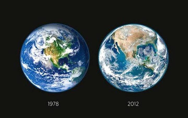 Image result for earth then vs now NY PRAXIS Flat