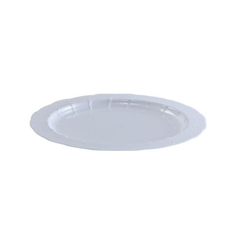 7.5 in. White Elegance Plastic Disposable Plates 40/pack