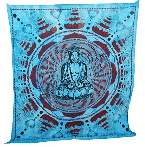 Meditation Buddha Tapestry Large Table Runner Wall Art
