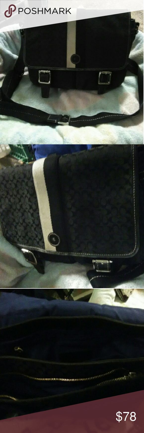 Awesome Coach messenger bag Awesome COACH messenger bag with tons of pockets and compartments! Great size very practical and looks amazing!! Like new condition. Coach Bags Hobos