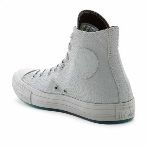 dd5b6fe7d43b CONVERSE Leather High Top Sneaker SNAKE EMBOSSED Dolphin  Converse   fashionsneakers