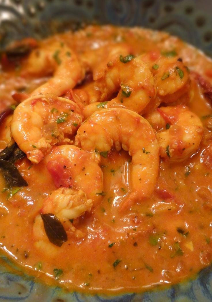 Goan-Style Shrimp Curry (Masala Jheenga); spicy hot, please!