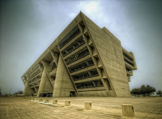 I.M. Pei - City Hall. Dallas, Texas. - Base (by Terry G Alexander)