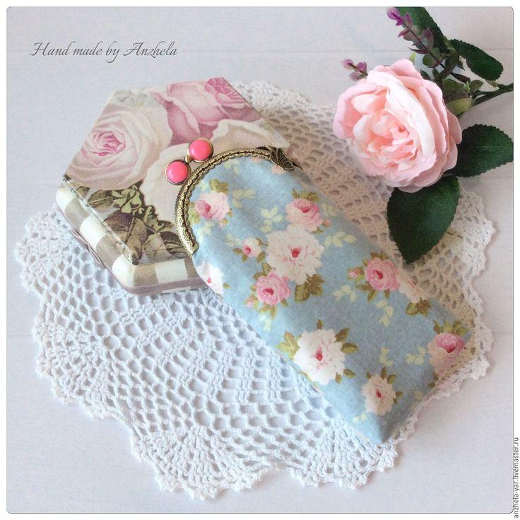 """Купить Очечник """"Розы"""" - комбинированный, цветочный, Очечник, Чехол для очков, очечники, подарок"""