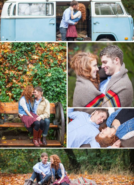 A real picnic & road trip styled fall engagement shoot with tips to get you photo-ready! {Shaun & Skyla Walton}