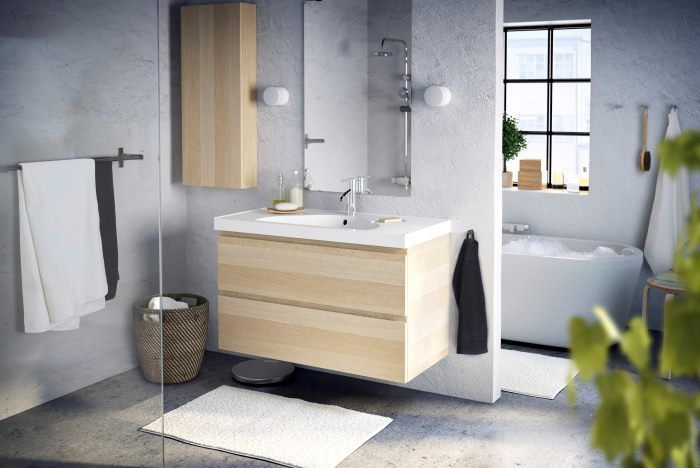 17 best images about bathroom remodel on pinterest for Meubles salle de bain ikea godmorgon