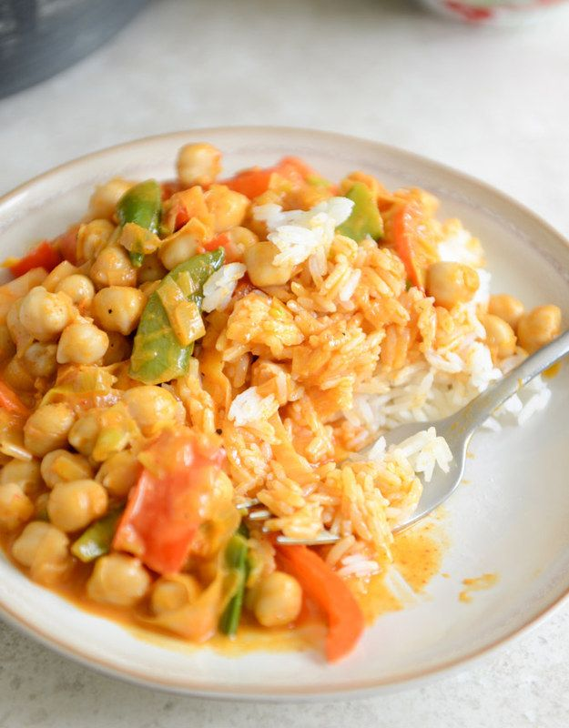Easy Thai Chickpea Curry With Coconut Rice   28 Vegetarian Recipes That Are Even Easier Than Getting Takeout