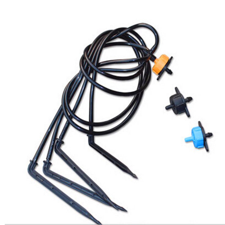 Spider Distribution Assembly with 4 Elbow Arrow Dripper Mini-Stakes Greenhouse Dripper Irrigation N122