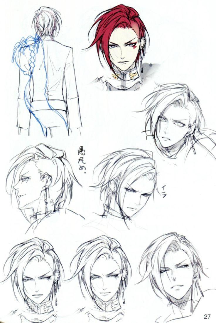 anime male face - 736×1099