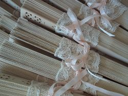 Wedding Fans decorated with lace