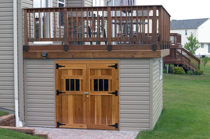 Building a Shed under a deck- great use of dead space