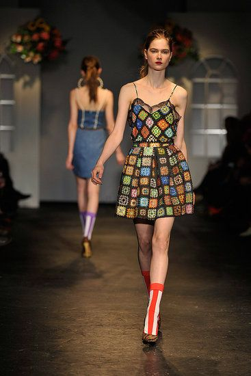 granny square dress from House of Holland Fall 2011 I guess I need to work on my crochet skills