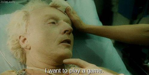 """I want to play a game.""   | Saw III, Amanda, jigsaw, John Kramer, Shawnee smith, Tobin bell."